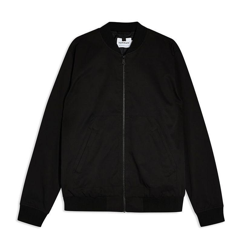 """<p><strong>TOPMAN</strong></p><p>nordstrom.com</p><p><strong>$65.00</strong></p><p><a href=""""https://go.redirectingat.com?id=74968X1596630&url=https%3A%2F%2Fwww.nordstrom.com%2Fs%2Ftopman-icon-classic-bomber-jacket%2F5396557&sref=https%3A%2F%2Fwww.esquire.com%2Fstyle%2Fnews%2Fg2932%2F10-best-bomber-jackets-for-fall%2F"""" rel=""""nofollow noopener"""" target=""""_blank"""" data-ylk=""""slk:Buy"""" class=""""link rapid-noclick-resp"""">Buy</a></p><p>Topman's streamlined take is cut from a sturdy twill that'll stand up to anything the elements throw at it this fall. </p>"""