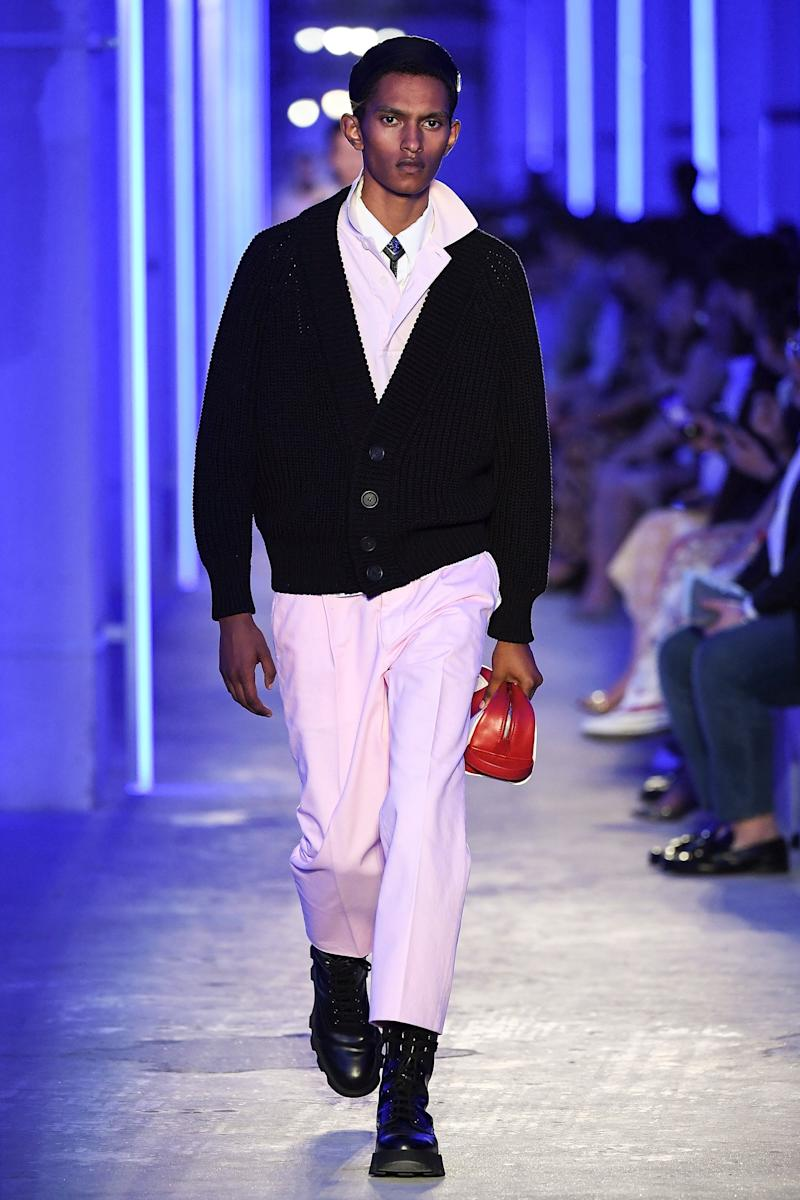 A crispy spring dude at Prada. Photo by Yanshan Zhang/Getty Images for Prada.
