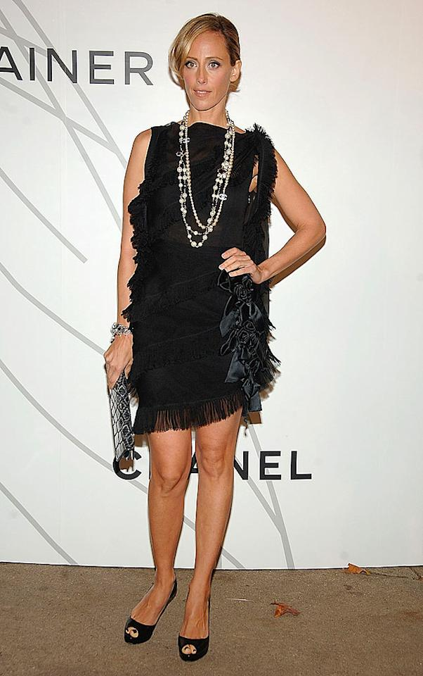 """""""Lipstick Jungle"""" star Kim Raver always struggles to dress herself. This fringe and bowtie mess is another fashion failure. Jamie McCarthy/<a href=""""http://www.wireimage.com"""" target=""""new"""">WireImage.com</a> - October 21, 2008"""