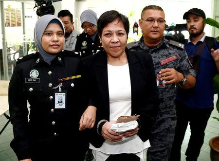 FILE PHOTO: Australian Maria Elvira Pinto Exposto leaves following her release at the High Court in Shah Alam