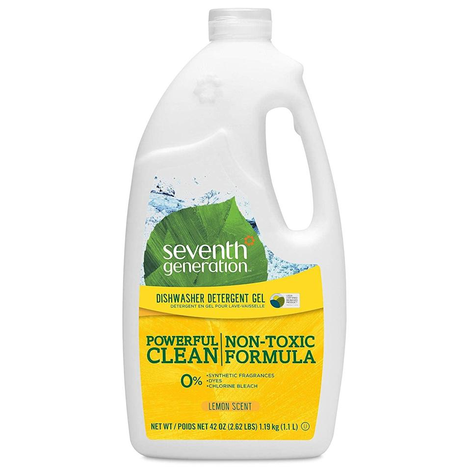 <p>Clean your dirtiest messes with the <span>Seventh Generation Dishwasher Detergent Gel</span> ($26, originally $29).</p>