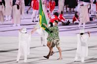 <p>Not only did they dance their way into the stadium, the delegates from Brazil also wore tropical button-downs! </p>
