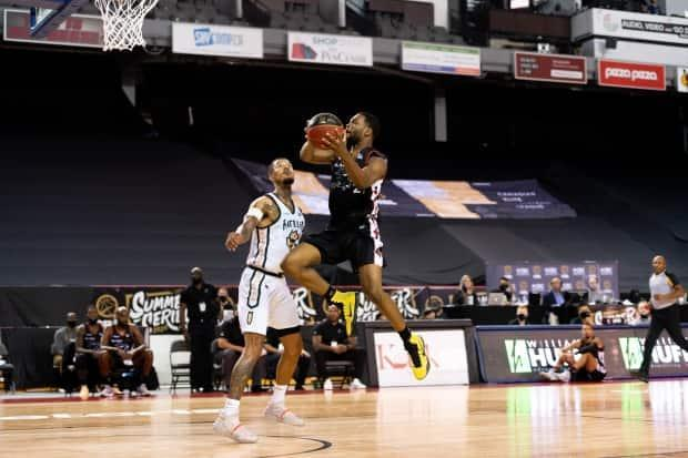 The Saskatchewan Rattlers and expansion Ottawa Blackjacks are seen above in action at the CEBL Summer Series in St. Catharines, Ont., where the league played out its second season in a bubble without fans. (CEBL - image credit)