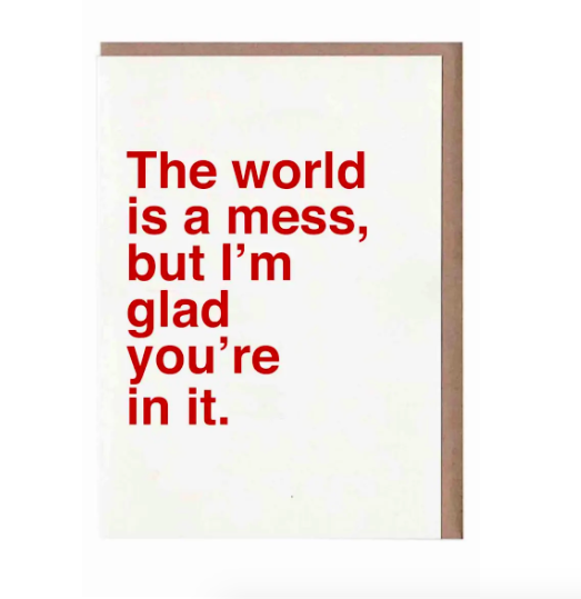 8-Pack The World Is a Mess Blank Cards. Image via Nordstrom.