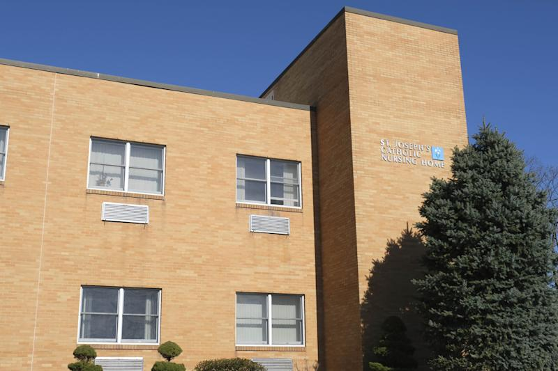 St. Joseph's Senior Home is seen in Woodbridge, N.J., Tuesday, March 24, 2020. Health Commissioner Judy Persichilli said that St. Joseph's Senior Home in Woodbridge is transferring its nearly 90 patients out of the facility and may have to close because of COVID-19. (AP Photo/Seth Wenig)