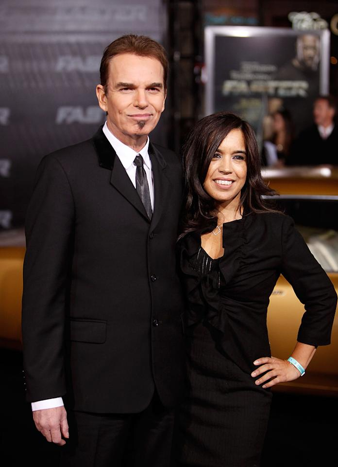 """<a href=""""http://movies.yahoo.com/movie/contributor/1800018605"""">Billy Bob Thornton</a> and guest at the Los Angeles premiere of <a href=""""http://movies.yahoo.com/movie/1810147419/info"""">Faster</a> on November 22, 2010."""