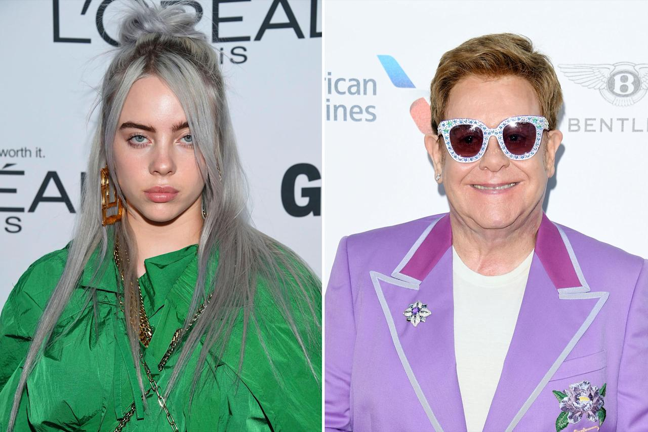 """The legendary star called Eilish one of the """"most talented young ladies"""" he's ever heard, during a July 2019 <a href=""""https://www.complex.com/pigeons-and-planes/2019/07/elton-john-young-thug-khalid-billie-eilish"""">interview</a> with <em>Pigeons and Planes</em>.  """"Her album was amazing. She's come a long way very quickly. She's an incredible word of mouth artist,"""" he told the outlet. """"All the tracks we've played have been so different, and that's what I love about her. There's is no box to put you in. There are no rules.""""  John concluded his thoughts on the singer, saying, """"I can't wait to see her live because she has something very special going on. Talent like hers doesn't come along very often."""""""