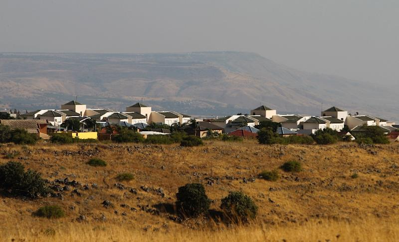 The Jewish settlement of Qatzrin in the Israeli occupied Golan Heights, pictured in June 2017 (AFP Photo/JALAA MAREY)