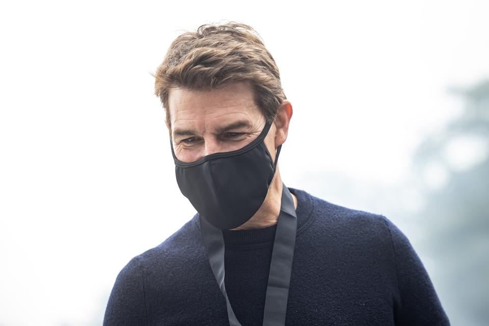 CHICHESTER, ENGLAND - JULY 11: Tom Cruise looks on during the Goodwood Festival of Speed at Goodwood on July 11, 2021 in Chichester, England. (Photo by James Bearne/Getty Images)