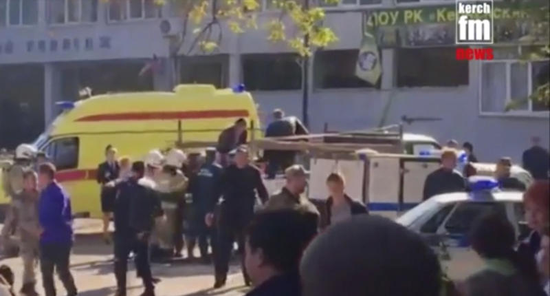 At least 10 killed in blast at Crimea college