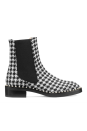 """<p><strong>Stuart Weitzman</strong></p><p>stuartweitzman.com</p><p><strong>$650.00</strong></p><p><a href=""""https://go.redirectingat.com?id=74968X1596630&url=https%3A%2F%2Fwww.stuartweitzman.com%2Fproducts%2Fcline%2F&sref=https%3A%2F%2Fwww.marieclaire.com%2Ffashion%2Fg33469548%2Fbest-ankle-boots-for-women%2F"""" rel=""""nofollow noopener"""" target=""""_blank"""" data-ylk=""""slk:SHOP IT"""" class=""""link rapid-noclick-resp"""">SHOP IT</a></p><p>An easy way to work the houndstooth print into your wardrobe is with this Chelsea boot that feels both rugged and refined. The tiny faux pearls blend seamlessly into the print, so you might not even notice them at first, for an added kick in style.<br></p>"""