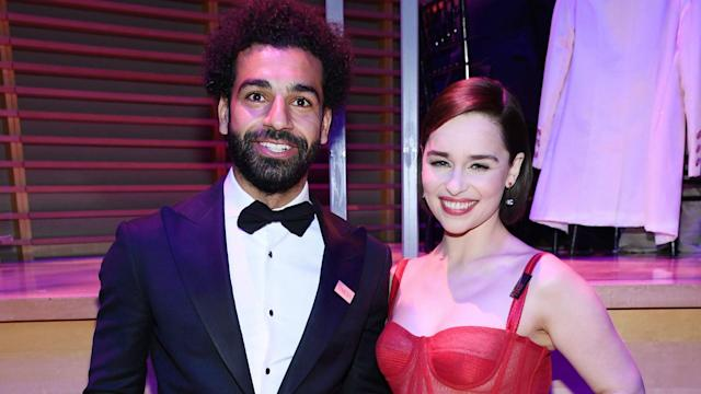 A photo of the Egypt forward and actress Emilia Clarke went viral this week, and the Reds boss joked he was disappointed not to get invited