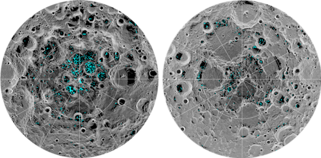 NASA scientists discover first evidence of ice on the moon