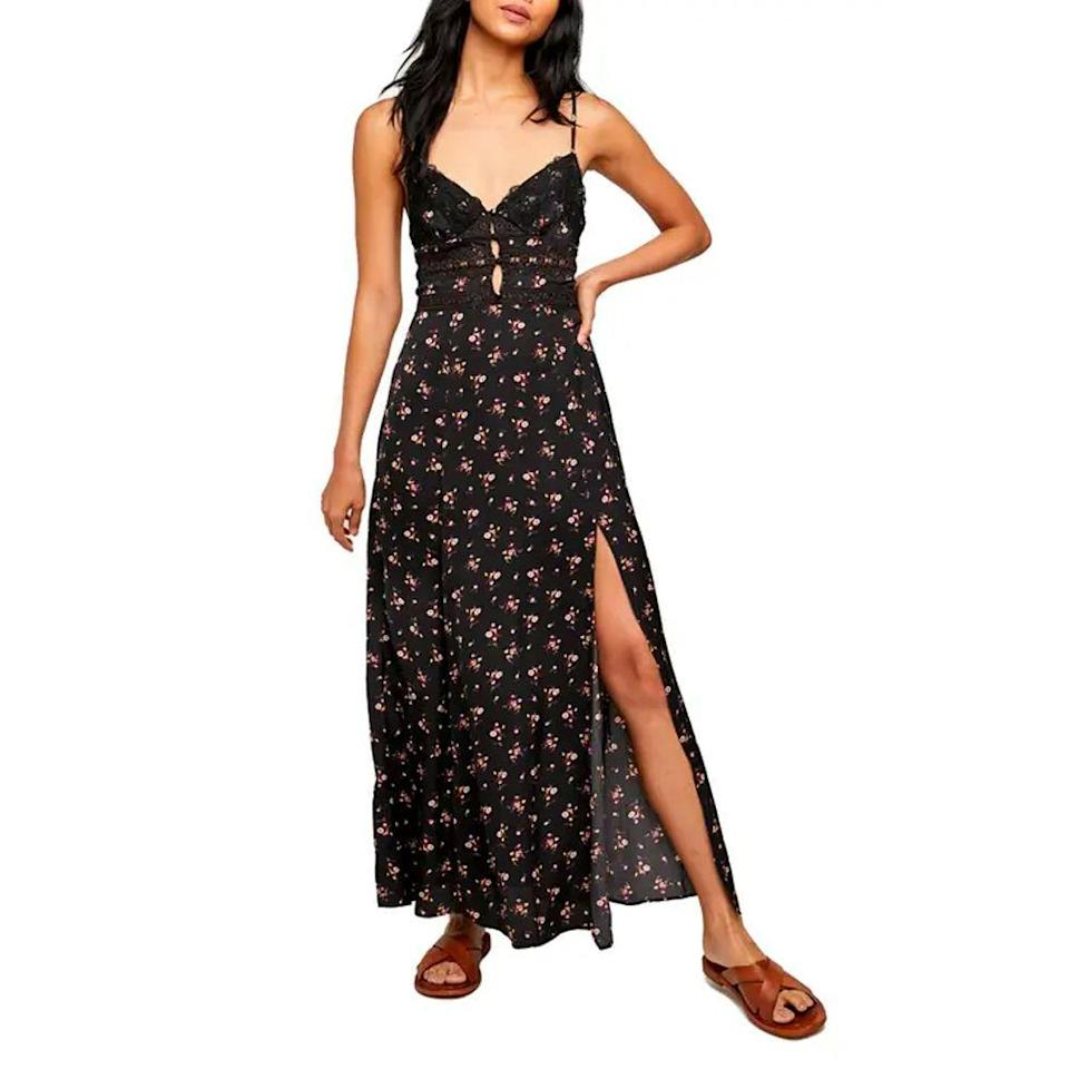 """<p><strong>Free People</strong></p><p>nordstrom.com</p><p><a href=""""https://go.redirectingat.com?id=74968X1596630&url=https%3A%2F%2Fwww.nordstrom.com%2Fs%2Ffree-people-floral-print-lace-maxi-dress%2F5908387&sref=https%3A%2F%2Fwww.bestproducts.com%2Flifestyle%2Fg37357856%2Flabor-day-sales-2021%2F"""" rel=""""nofollow noopener"""" target=""""_blank"""" data-ylk=""""slk:Shop Now"""" class=""""link rapid-noclick-resp"""">Shop Now</a></p><p><del>$128.00</del><strong><br>$53.97 (57% off)</strong></p><p>This flirty number is perfect for late night dates or with a T-shirt underneath for brunch with friends. The outfit combinations are endless, and we're dreaming about pairing this with our favorite <a href=""""https://www.bestproducts.com/fashion/g1126/white-sneakers-for-women/"""" rel=""""nofollow noopener"""" target=""""_blank"""" data-ylk=""""slk:white sneakers"""" class=""""link rapid-noclick-resp"""">white sneakers</a> and a cardigan when cooler weather hits. </p>"""
