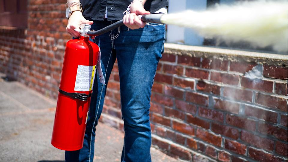 Every home needs at least one reliable fire extinguisher, if not more for multiple floors.