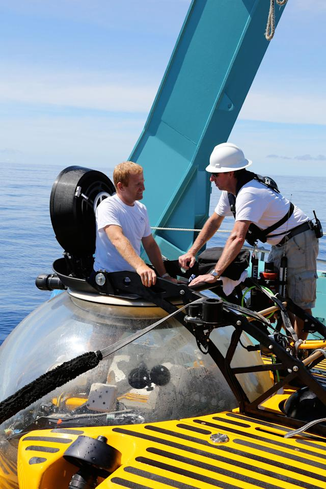 Triton, a three-manned submersible, which can dive to the depth of 1,000 meters.