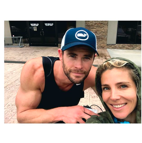 Chris and Elsa have been married for seven years, and play on-screen spouses in 12 Strong. Source: elsapataky/Instagram