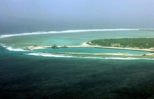 View of Sansha in the disputed Paracel island chain