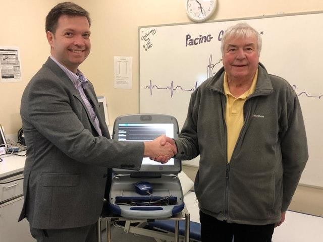 David Southworth with consultant cardiologist Dr Duncan Field