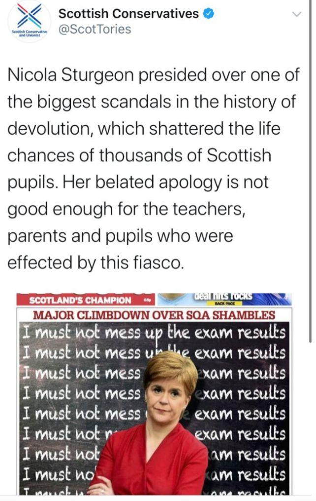 Tweet from the Scottish Conservatives (Photo: Tweet from the Scottish Conservatives)