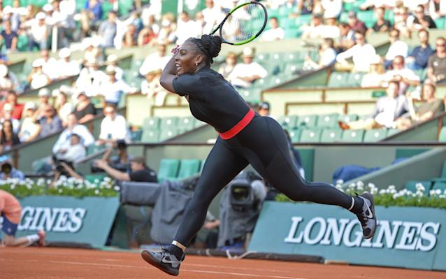 Serena Williams debuted the new look at Roland Garros this year, her first grand slam after giving birth - Getty Images Europe