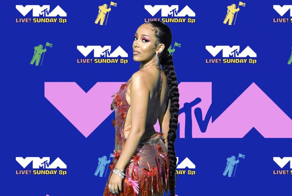 UNSPECIFIED - AUGUST 2020: (EDITORS NOTE: Image has been digitally enhanced.) Doja Cat attends the 2020 MTV Video Music Awards, broadcast on Sunday, August 30, 2020. (Photo by Frazer Harrison/Getty Images for RCA)