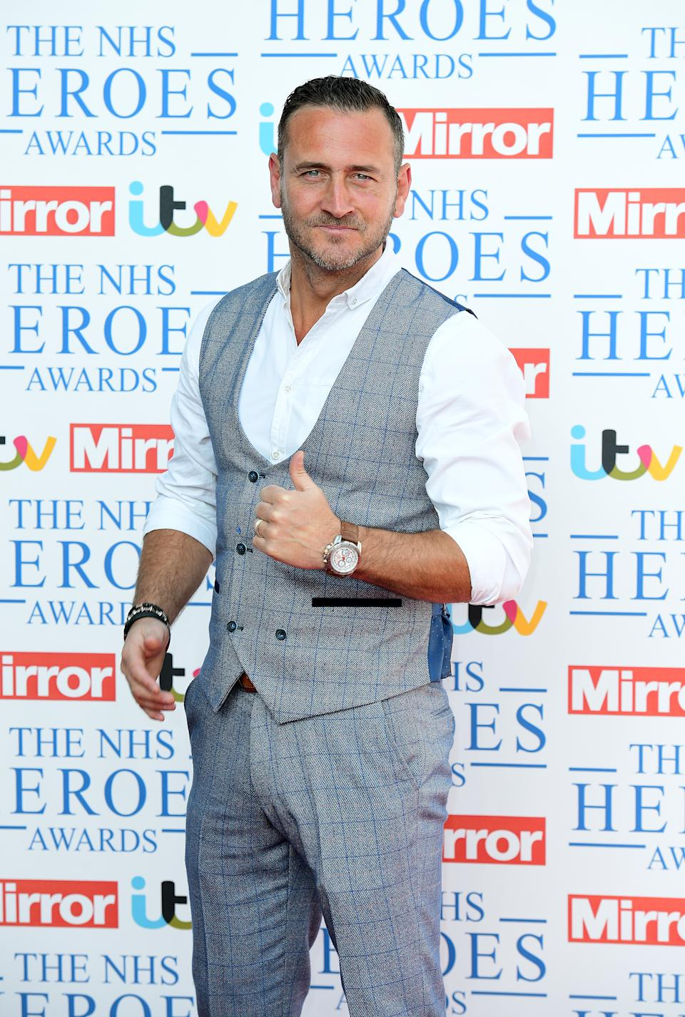 Will Mellor attending the NHS Heroes Awards at the London Hilton on Park Lane.