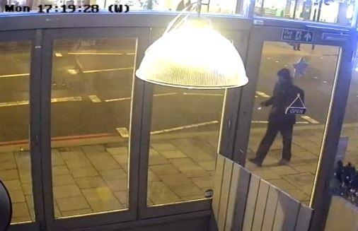 Mark Brazant, seen on CCTV having just passed a mother and her buggy. (PA/Metropolitan Police)