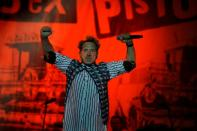 FILE PHOTO: The Sex Pistols lead singer John Lydon, also known as Johnny Rotten, performs at Azkena Rock Festival in Vitoria