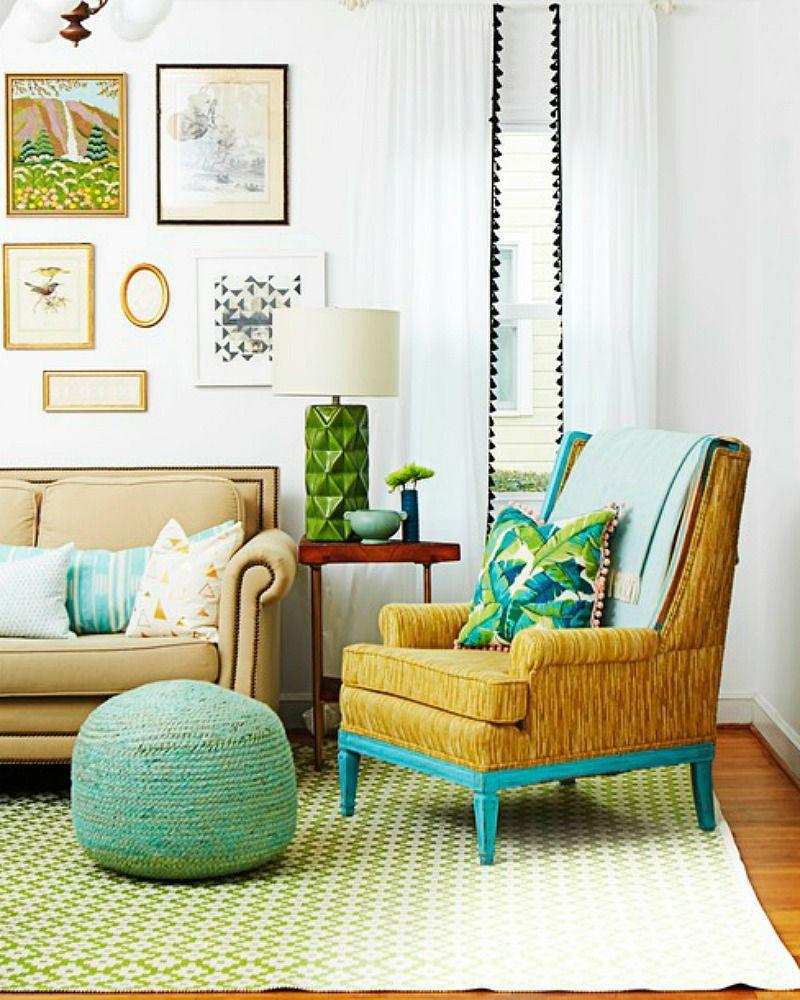 <p>Existing curtains, throw pillows, or lampshades get a fun makeover with pom-pom or fringe trim. Pick a trim color that pops against the other shades in your space for maximum impact.  </p>