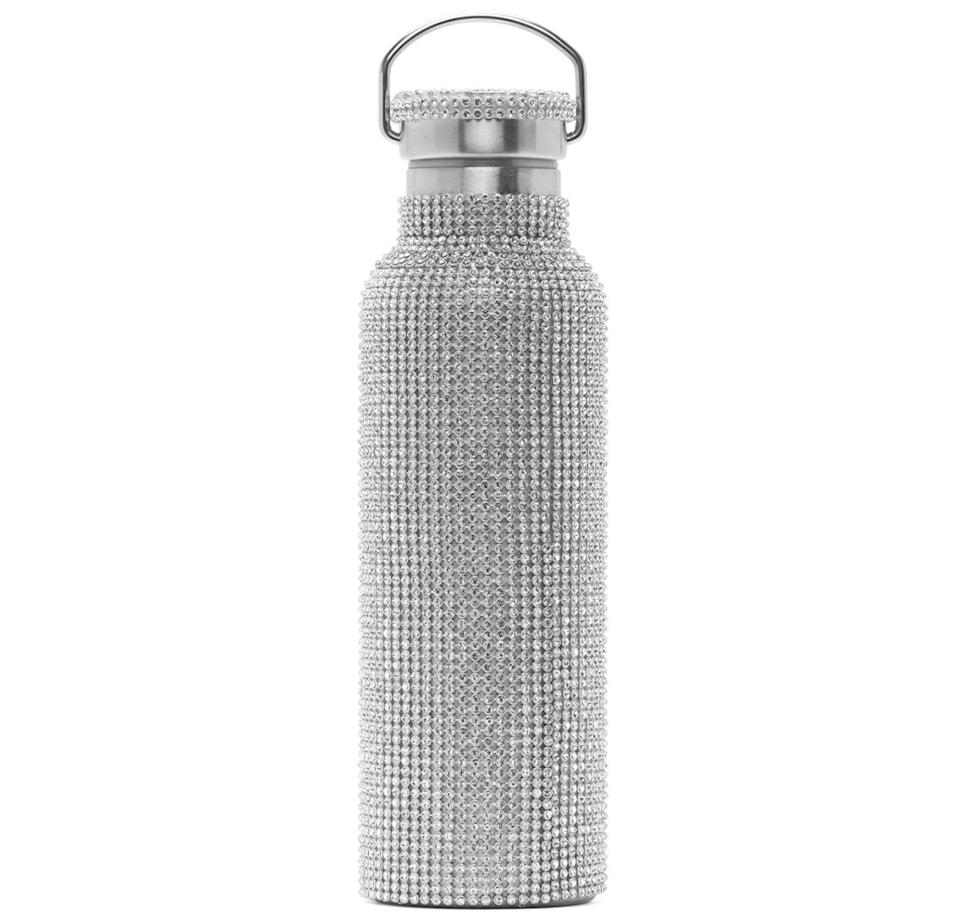 <p>Isn't this <span>Collina Strada Silver Rhinestone Water Bottle</span> ($90) so pretty to look at?</p>