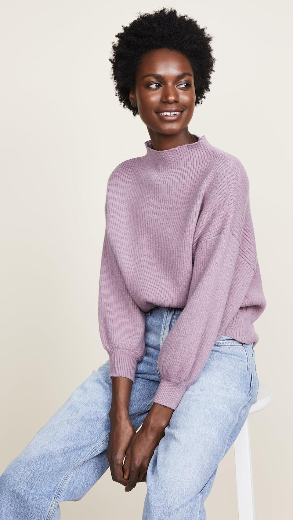 "<p>""I love my <span>Line & Dot Alder Sweater</span> ($59, originally $99) - it's modern and cool, and it's probably the softest sweater I own. Seriously, it feels like butter!"" - Tara Block, content director, Growth and Strategic Features</p>"