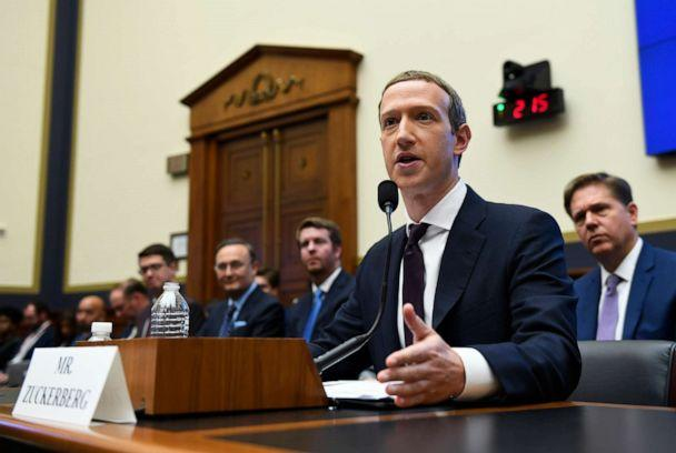 PHOTO: In this Oct. 23, 2019, file photo, Facebook Chief Executive Officer Mark Zuckerberg testifies before the House Financial Services Committee on Capitol Hill in Washington. (Susan Walsh/AP, FILE)