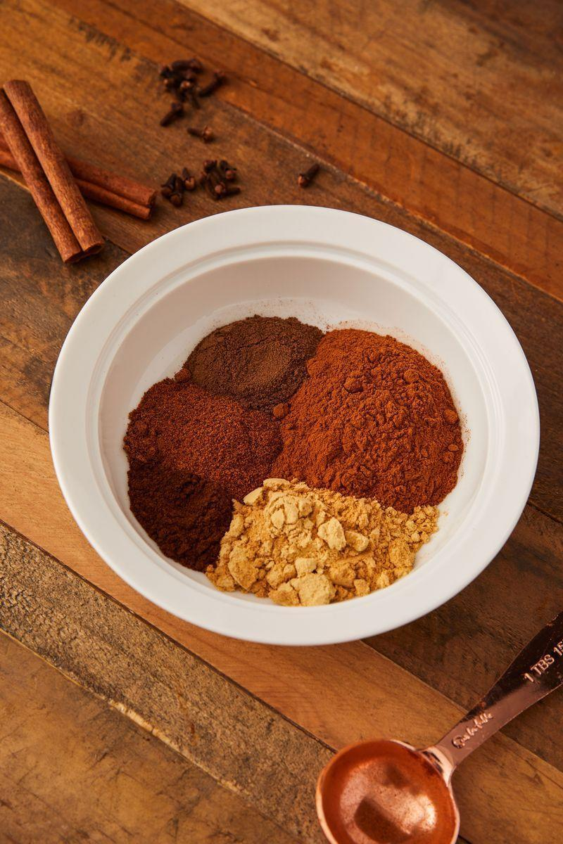 """<p>As soon as we feel the first cool breeze of early autumn, we start craving the comforting, warm flavours of pumpkin pie spice. Made with just 5 spices, it is endlessly adjustable to your tastes.</p><p>Get the <a href=""""https://www.delish.com/uk/cooking/recipes/a34200781/pumpkin-pie-spice-recipe/"""" rel=""""nofollow noopener"""" target=""""_blank"""" data-ylk=""""slk:Homemade Pumpkin Pie Spice"""" class=""""link rapid-noclick-resp"""">Homemade Pumpkin Pie Spice</a> recipe.</p>"""