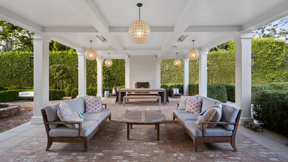 The outdoor seating area. - Credit: Willis Allen Real Estate/Forbes Global Properties