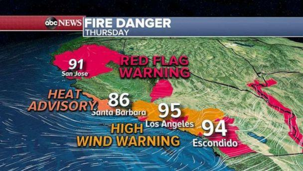 PHOTO: Very dangerous conditions are expected today in northern California and in the Bay Area. (ABC News)