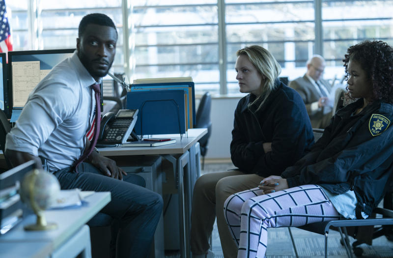 Aldis Hodge, Elizabeth Moss and Storm Reid in The Invisible Man (2020)
