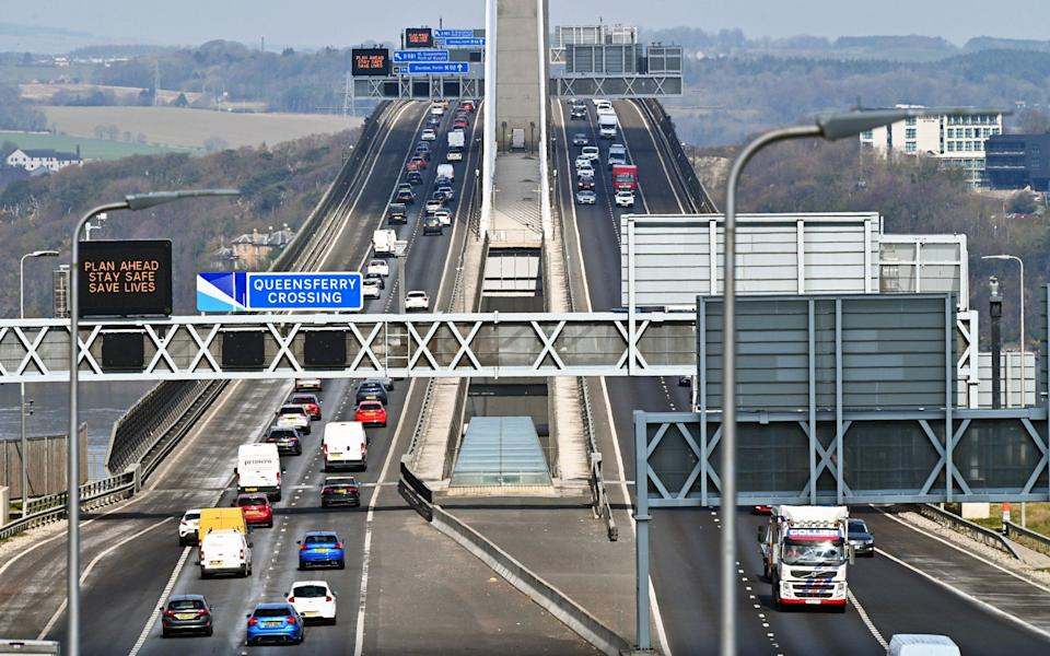 Increased traffic on the Queensferry Crossing, which links Edinburgh and Fife, as the Scottish Government removed travel restrictions within Scotland - Getty Images Europe