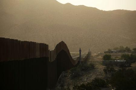 A general view shows a newly built section of the U.S.-Mexico border fence at Sunland Park, U.S. opposite the Mexican border city of Ciudad Juarez