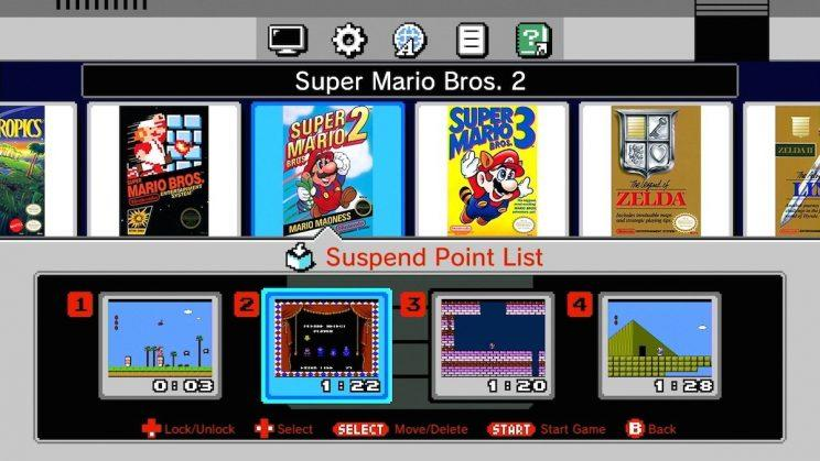 NES Classic Edition games.