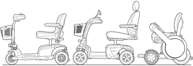 mobility scooter showdown  whill model a vs  golden tech buzzaround ex vs  pride mobility