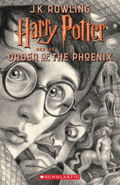 PHOTO: Scholastic's new book cover for 'Harry Potter and the Order of the Phoenix,' featuring art by Brian Selznick, is pictured here. (Brian Selznick (c) 2018 by Scholastic Inc.)