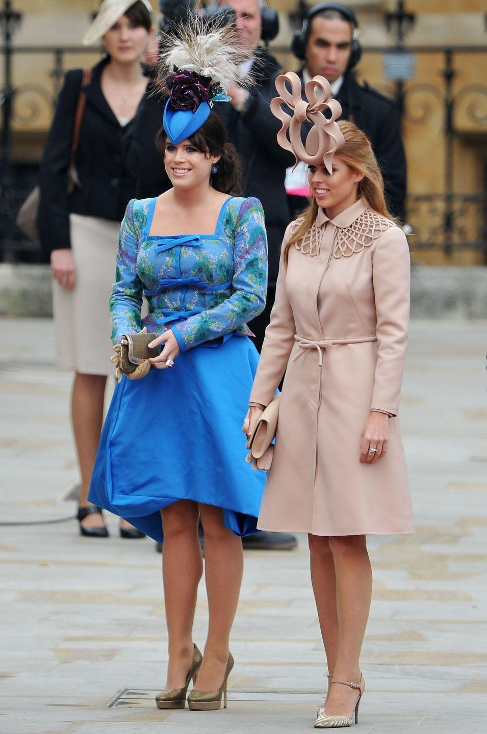"""<p>Prince William's cousins were the breakout stars of his wedding, though they probably didn't want to be. The young royals were ruthlessly mocked by the internet for their <a href=""""https://www.harpersbazaar.com/celebrity/latest/a20748825/princess-eugenie-princess-beatrice-of-york-prince-willliam-kate-middleton-wedding/"""" rel=""""nofollow noopener"""" target=""""_blank"""" data-ylk=""""slk:over-the-top hats"""" class=""""link rapid-noclick-resp"""">over-the-top hats</a> and were even a <a href=""""https://www.pinterest.fr/pin/7951736822392177/"""" rel=""""nofollow noopener"""" target=""""_blank"""" data-ylk=""""slk:popular Halloween costume"""" class=""""link rapid-noclick-resp"""">popular Halloween costume</a> later that year. </p>"""
