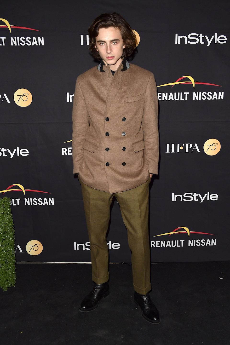 "<h2>Berluti</h2>The first of many winning Berluti looks. <span class=""copyright"">Photo: Alberto E. Rodriguez/Getty Images.</span>"