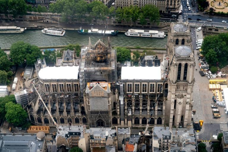 A media report found that tests conducted after the Notre-Dame fire detected lead levels up to 10 times higher than the safe limit in schools around the cathedral (AFP Photo/Lionel BONAVENTURE)