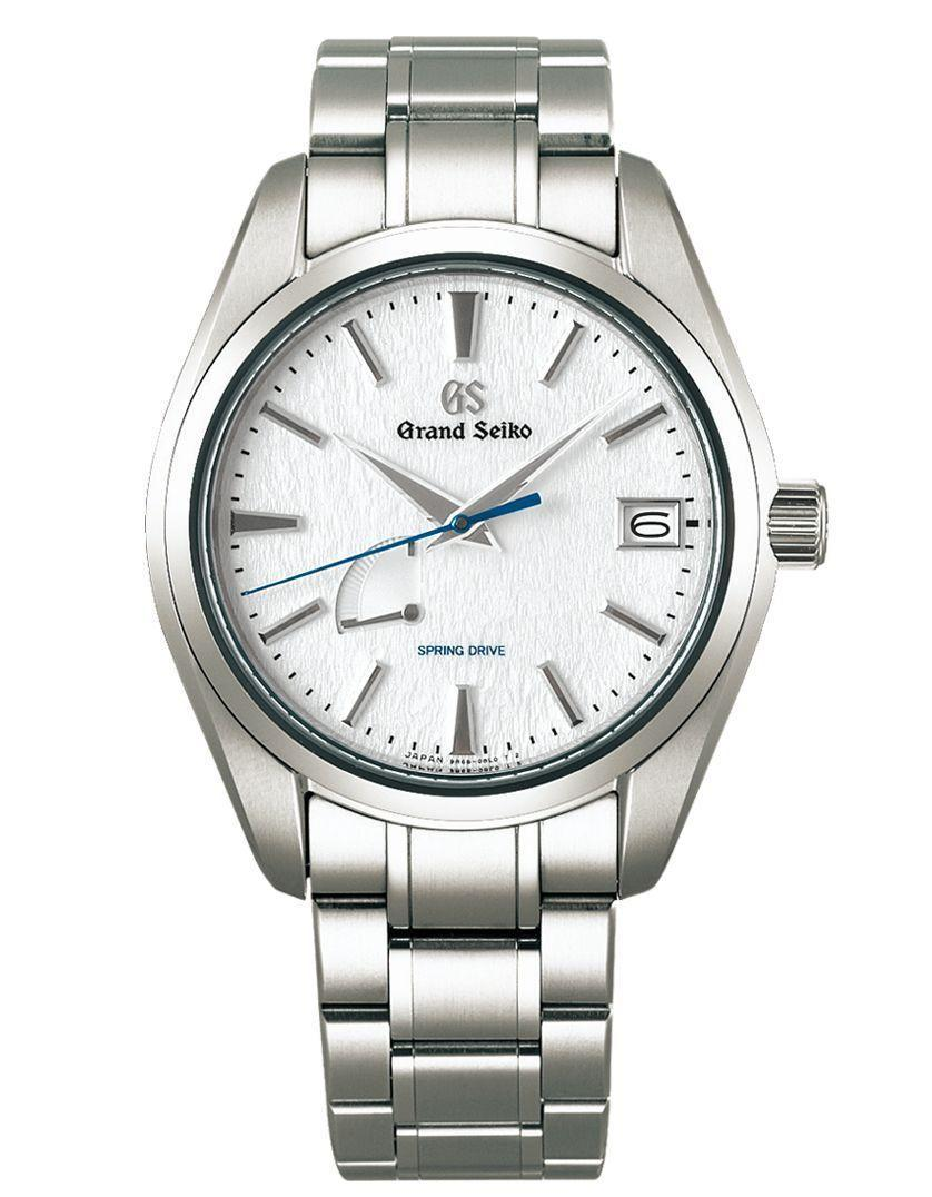 """<p><strong>Grand Seiko</strong></p><p>grand-seiko.com</p><p><strong>$5800.00</strong></p><p><a href=""""https://www.grand-seiko.com/us-en/collections/sbga211g"""" rel=""""nofollow noopener"""" target=""""_blank"""" data-ylk=""""slk:Shop Now"""" class=""""link rapid-noclick-resp"""">Shop Now</a></p><p>The case and bracelet are made with high-intensity titanium, providing a scratch and corrosion resistant finish, making it 30 percent lighter than stainless steel and really pops with the pure white face.</p><p> Case size: 41 mm<br></p>"""