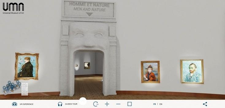 On the site of the Universal Museum of Art, 150 works by 100 artists are exhibited through 11 thematic galleries, ranging from 'ideal beauty' to 'sensual bodies.'