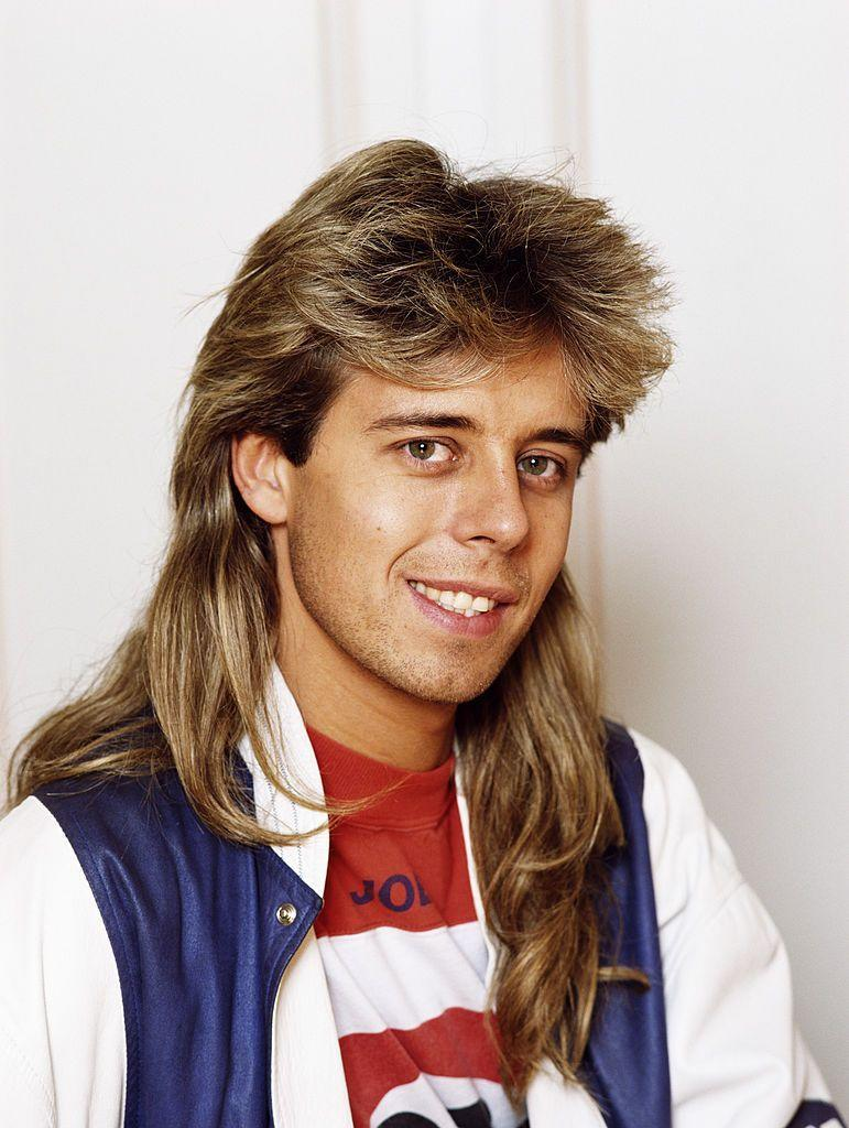 <p>Hopefully the era of mullets will never be brought back, as this classic-but-terrible style worn by British DJ and TV host Pat Sharp demonstrates.</p>