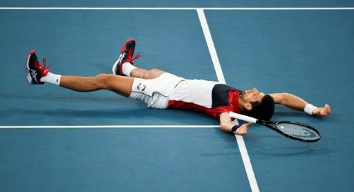 Novak Djokovic battled hard in his win against Russia's Daniil Medvedev to send Serbia into the final of the ATP Cup
