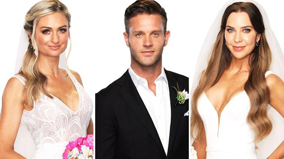 Married At First Sight 2021 contestants Joanne, Jake and Coco